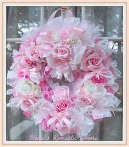 pink shabby chic s home colored pink princess wreaths