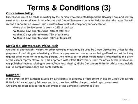 Event Terms And Conditions Template 28 event terms and conditions template sle terms and