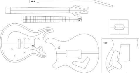 electric guitar templates guitar template