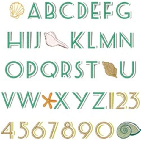 Printable Beach Fonts | sandy beach font embroidery font annthegran