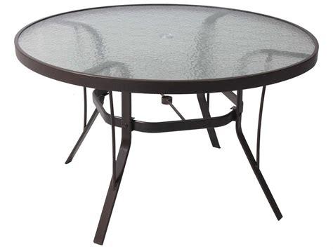 Suncoast Cast Aluminum 48'' Round Glass Top Dining Table