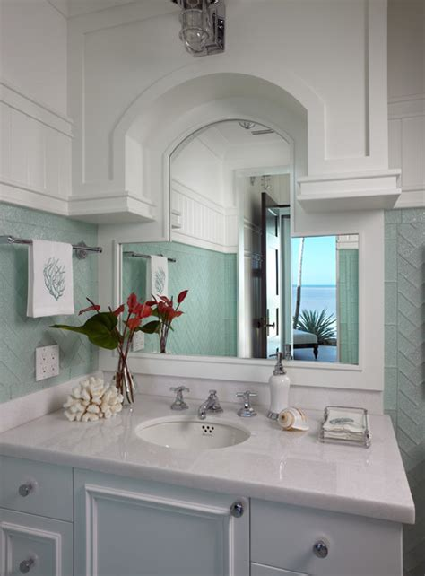 sophisticated key west style traditional bathroom