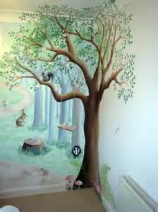 nursery wall murals uk fairy woodland mural in nursery
