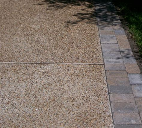 Exposed Aggregate Patio Stones by Exposed Aggregate Driveway With Paver Borders Patios