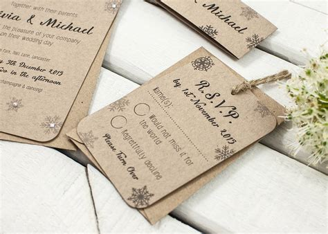 Wedding Invitation Bundles by Snowflake Kraft Wedding Invitation Bundle By Norma Dorothy