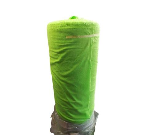 square polly cutton lime joblot of 100 square metres of lime green terry cotton