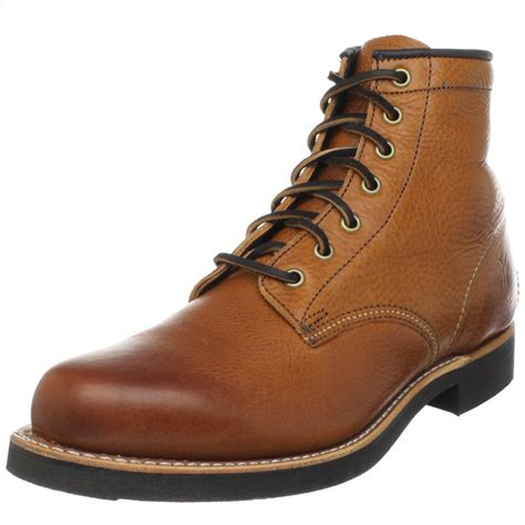 frye mens boot frye mens arkansas mid lace boot in brown for cognac