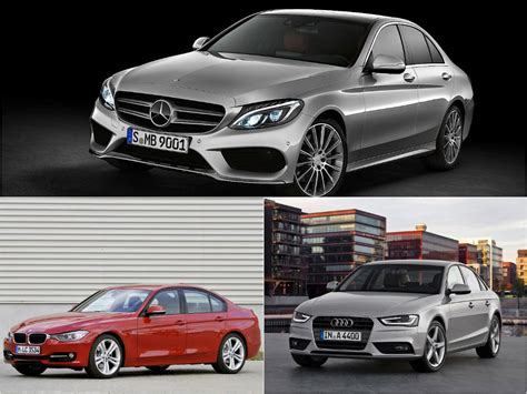 mercedes c class w205 vs bmw 3 series f30 vs audi a4