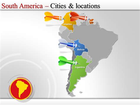 south america powerpoint map south america maps south