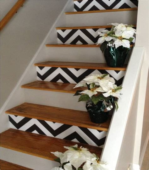 stair decor decorative stair risers with designs for all tastes