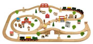 best quality new wooden train switch track set circular my first train set codeproject