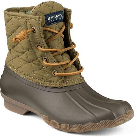 sperry duck boots womens green