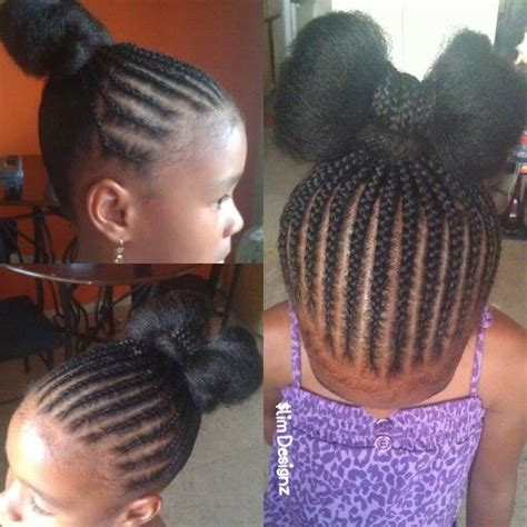 is braids for toddlers good simple braided bow bun children s natural style curly
