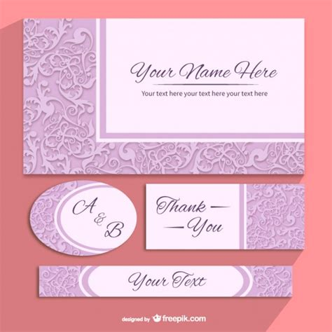 3 In 1 Spot Template Pack floral invitation templates pack vector free