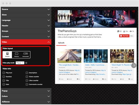old youtube layout plugin yottie video tab and how to make previews attractive