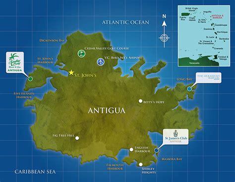 antigua map galley bay caribbean resort antigua map