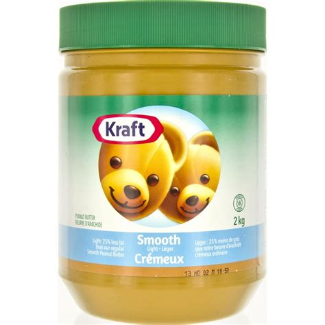 Kraft Light 25 Less Fat Peanut Butter Smooth 2kg Butter Lights