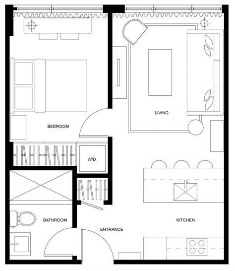 450 square feet simple 450 square foot apartment floor plan home design