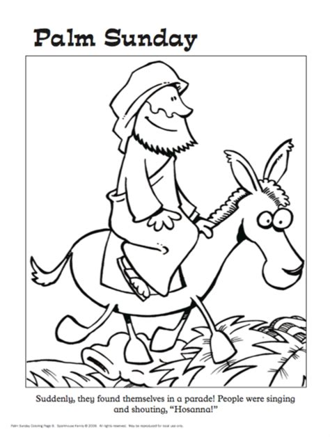 free easter coloring sheets jesus on palm sunday