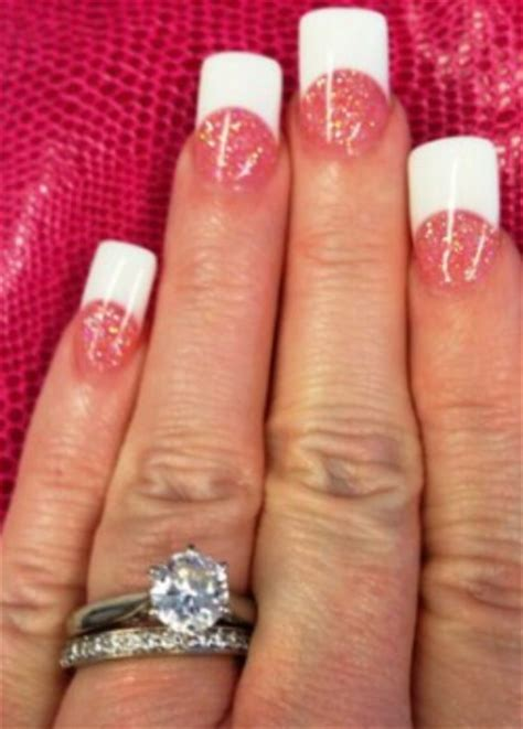 red nail beds nail bed pink glitter nails and pink glitter on pinterest