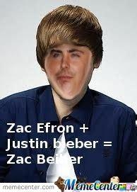 Zac Efron Meme - zac efron justin bieber zac bieber wtf by andrew63136