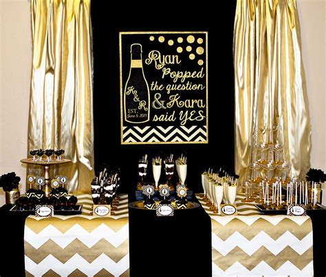 Bicycle Decorations Home by Black And Gold Bridal Shower Lillian Hope Designs