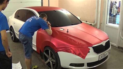 matte wrapped cars wrap job teckwrap red matte metallic full wrap by vinil