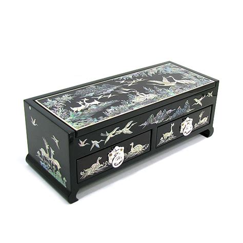 Handcrafted Jewelry Box - handcrafted jewelry box inlaid with of pearl