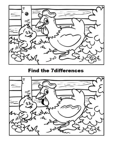 coloring pages spot the 63 best images about spot differences on the