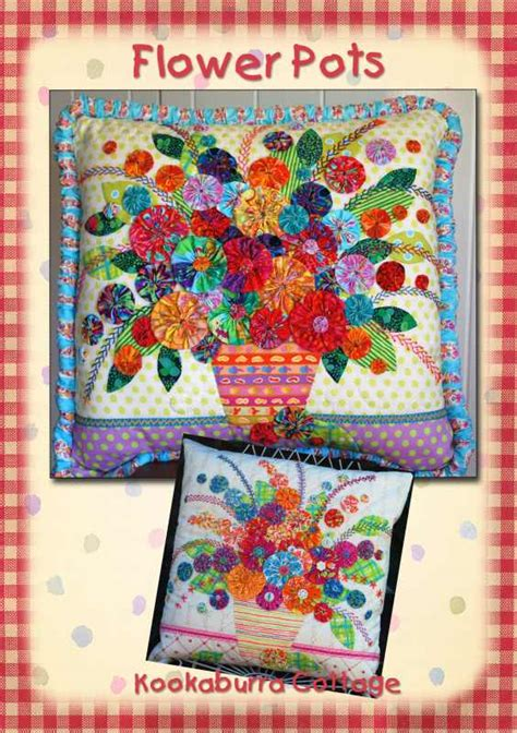 Kookaburra Cottage Quilts by Flower Pots Kookaburra Cottage Quilts