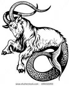 capricorn tattoo hd capricorn astrological zodiac sign black and white tattoo
