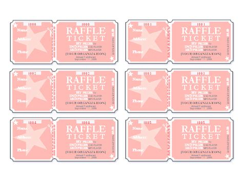 Download Raffle Tickets 6 Per Page Free Certificate Templates For Ms Office Raffle Certificate Template