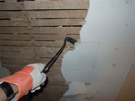 removing plaster from the wall ceiling not necessary to