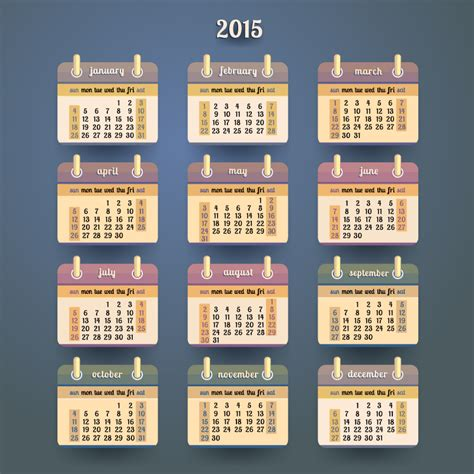 Desk Calendar 2015 by Desk Calendar 2015 Vector Free Vector Graphic