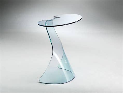 consolle in vetro per ingresso tavolini e consolle in vetro curvato arredare con stile
