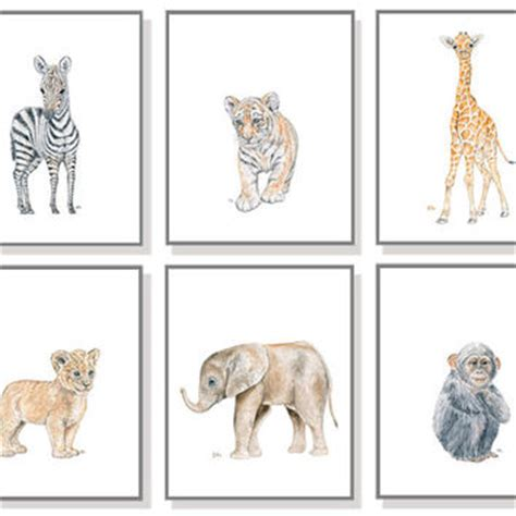 printable animal pictures for nursery safari animal art safari nursery print from