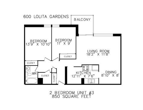 how big is 850 square feet floorplans for apartments in mississauga at 600 620