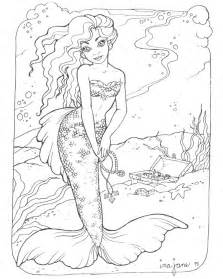Coloring Pages Printable Mermaid Coloring Pages Coloring Realistic Princess Coloring Pages For Adults Free Coloring Sheets