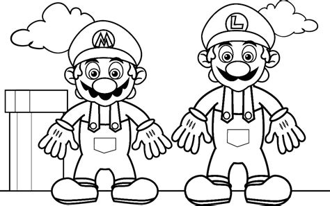coloring page mario mario coloring pages black and white super mario