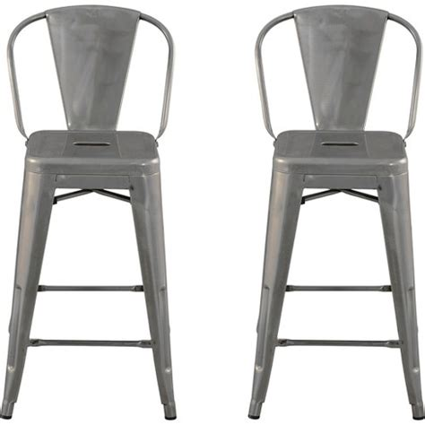 Carlisle Metal Bar Stool Set Of 2 by Carlisle 24 Quot Backed Counter Stool Metal Set Of