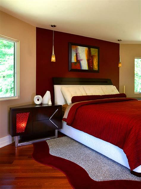 bedroom with red accent wall love the red accent wall den home sweet home pinterest