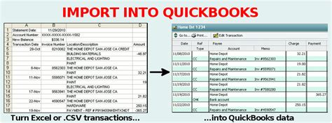 credit card statement template excel convert csv to iif free
