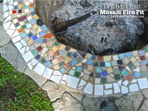 mosaic pit backyard mosaic firepit from 3peppers recipes