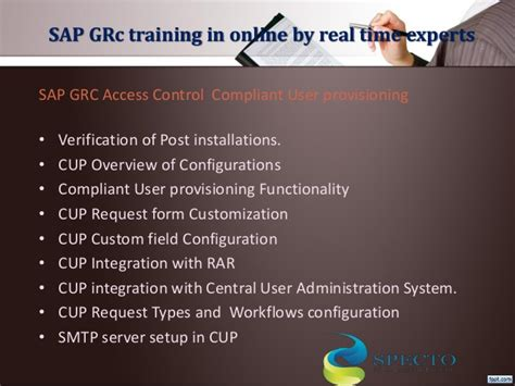sap grc tutorial sap grc online training sap grc 10 0 fastrack online