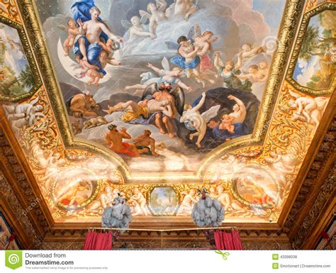 Painting On The Ceiling by Ceiling Painting At Hton Court Palace Stock