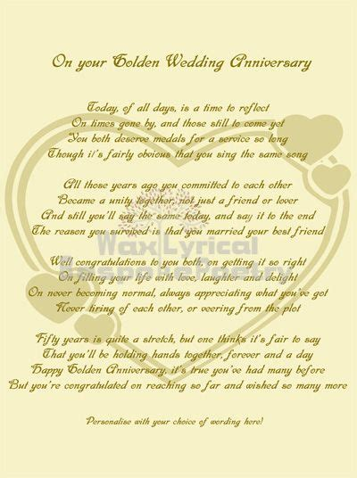 50th wedding anniversary poems for my 50th wedding anniversary poems golden 50th wedding anniversary personalised poetry gift