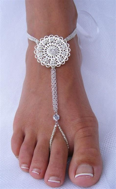 how to make foot jewelry with wedding foot jewelry barefoot sandal barefoot