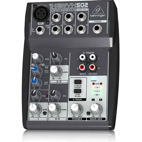 Mixer Audio behringer xenyx502 5 channel professional dj studio analog