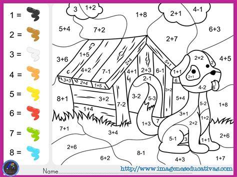 imagenes de matematicas para preescolar fichas de matematicas para sumar y colorear dibujo 5