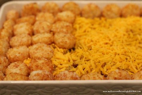 barbecue beef tater tot casserole melissassouthernstylekitchen com